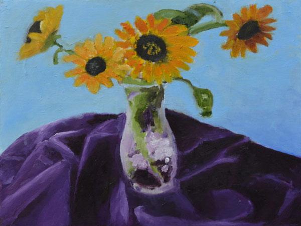 Sunflowers in Vase II