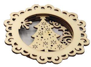Wooden 3D Christmas Ornaments